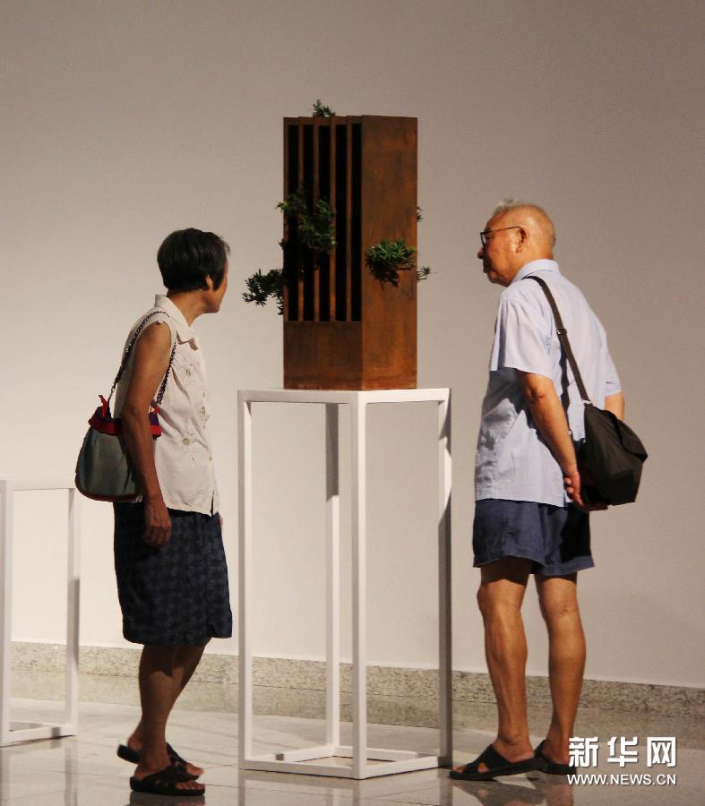 """(文化)(1)""""无形之形——中国当代艺术展""""亮相湖北美术馆"""