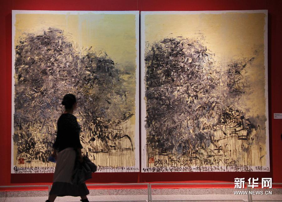 """(文化)(4)""""无形之形——中国当代艺术展""""亮相湖北美术馆"""