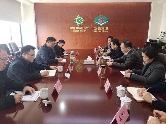 铜陵市副市长吴强到双赢集团东南公司调研